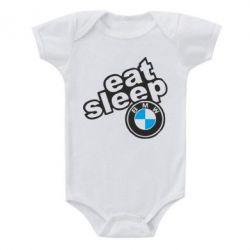 Дитячий бодік Eat, sleep, BMW