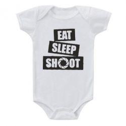 Детский бодик Eat, sleep, shoot