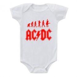 Детский бодик Эволюция AC\DC - FatLine
