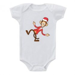 Детский бодик Funny Christmas monkey - FatLine