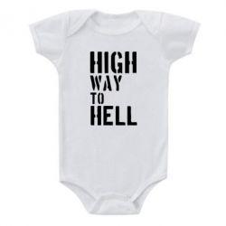 Детский бодик High way to hell - FatLine