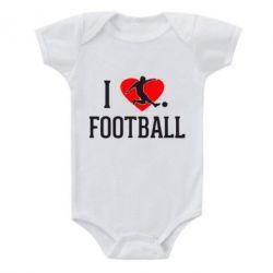 Детский бодик I love football - FatLine