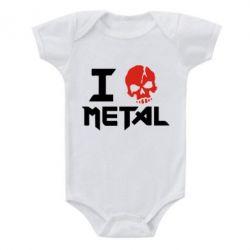 Детский бодик I love metal - FatLine