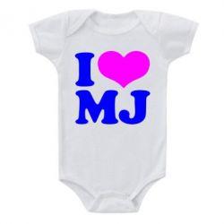 Детский бодик I love MJ - FatLine