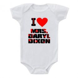 Детский бодик I love Mrs. Daryl Dixon - FatLine