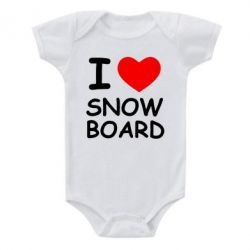 Детский бодик I love Snow Board - FatLine