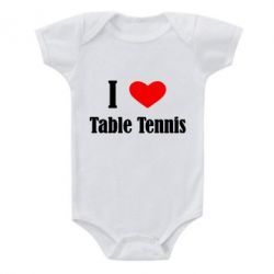 Детский бодик I love table tennis - FatLine