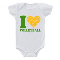 Детский бодик I love volleyball - FatLine