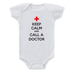 Детский бодик KEEP CALM and CALL A DOCTOR