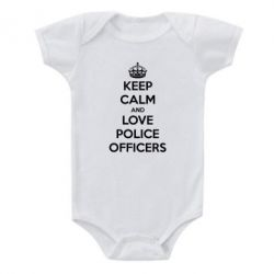 Дитячий бодік Keep Calm and Love police officers