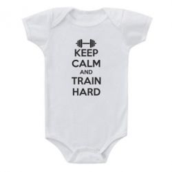 Детский бодик KEEP CALM and TRAIN HARD - FatLine