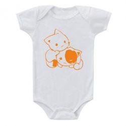 Детский бодик котята - FatLine