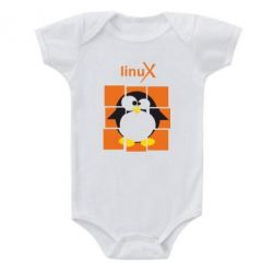 Детский бодик Linux pinguine - FatLine