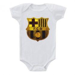 Детский бодик Логотип Барселоны - FatLine