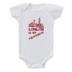 Купить Детский бодик Лондон моноцвет, FatLine