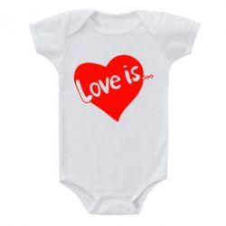 Детский бодик Love is... - FatLine