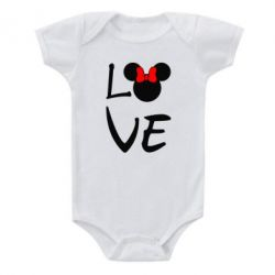 Детский бодик Love Mickey Mouse (female) - FatLine