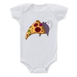Детский бодик Love Pizza 2 - FatLine