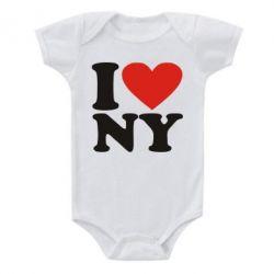 Детский бодик Люблю Нью Йорк - FatLine