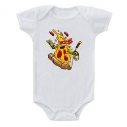 Детский бодик Микеланджело кусок пиццы - FatLine