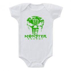 Детский бодик Monster Energy Череп - FatLine