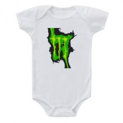 Детский бодик Monster Energy green - FatLine