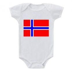 Детский бодик Норвегия - FatLine