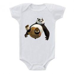 Детский бодик Падающая Панда - FatLine
