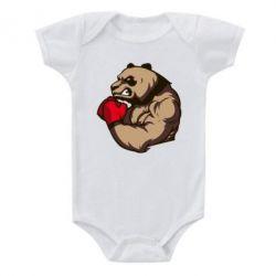 Детский бодик Panda Boxing - FatLine