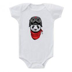 Детский бодик Панда в каске - FatLine
