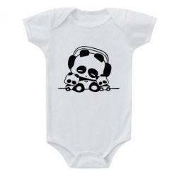 Детский бодик Панда в наушниках - FatLine