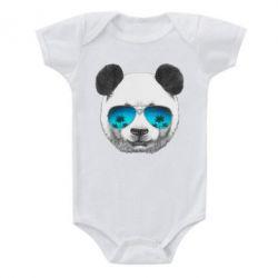 Детский бодик Панда в очках - FatLine