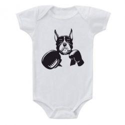Детский бодик Собака в боксерских перчатках - FatLine