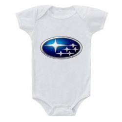 Детский бодик Subaru 3D Logo - FatLine