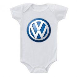 Детский бодик Volkswagen 3D Logo - FatLine