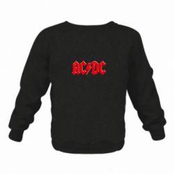 Детский реглан (свитшот) AC/DC Red Logo