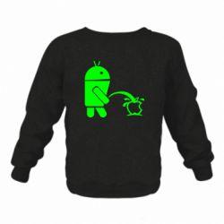 Дитячий реглан (світшот) Android принижує Apple