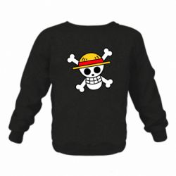 Дитячий реглан (світшот) Anime logo One Piece skull pirate