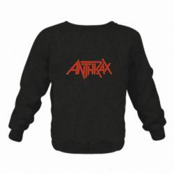 Детский реглан (свитшот) Anthrax red logo