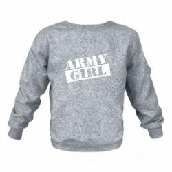 Дитячий реглан (світшот) Army girl