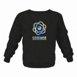 Дитячий реглан (світшот) Atom science