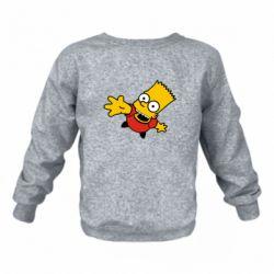 Детский реглан (свитшот) Барт Симпсон