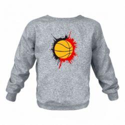 Детский реглан (свитшот) Баскетбольный мяч
