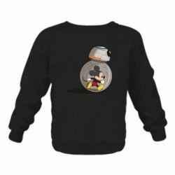 Детский реглан (свитшот) BB-8 and Mickey Mouse