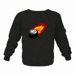 Детский реглан (свитшот) Бильярдный шар в огне