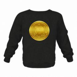 Дитячий реглан (світшот) Bitcoin coin