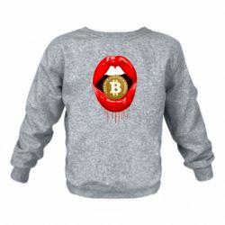 Дитячий реглан (світшот) Bitcoin in the teeth