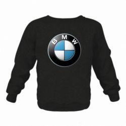Детский реглан (свитшот) BMW Logo 3D