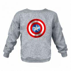Детский реглан (свитшот) Captain America 3D Shield