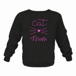 Дитячий реглан (світшот) Cat mom